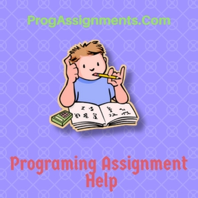 Programing Assignment  Help