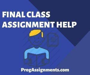 Final class Assignment Help