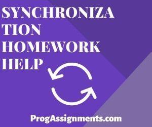 Synchronization Homework Help